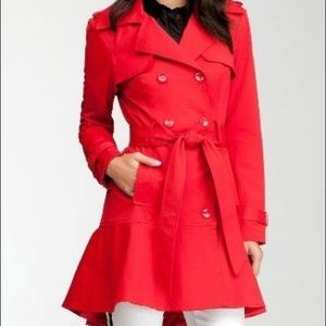 BEBE Red Trench Coat
